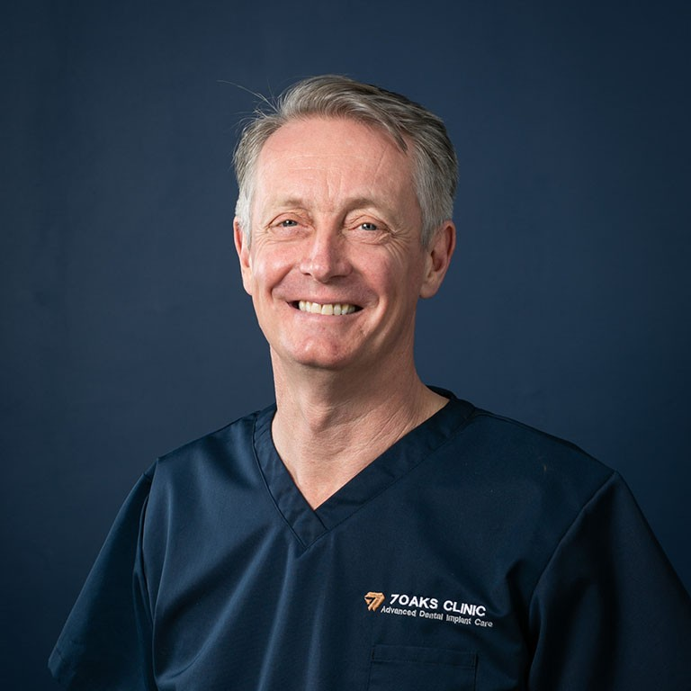 Portrait of Dr Gary Moynes, Clinic Director
